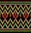 zigzag embroidery tribal seamless pattern vector image