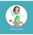Girl executes oriental dance vector image