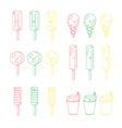 set of emotional ice-creams vector image