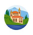 Sea villa Real estate company logo concept vector image