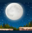 a moon night scene vector image