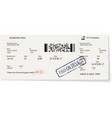 airline ticket with not real text information vector image vector image