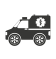 ambulance car isolated icon design vector image vector image