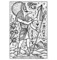 anubis god engraved fantasy vector image vector image