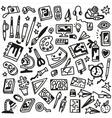 art doodles vector image vector image