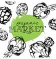 artichokes organic market vector image vector image