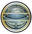 Atlantic Mackerel Label vector image vector image