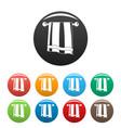 bathroom towel icons set color vector image