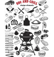 big set of bbq and grill design elements kitchen vector image vector image