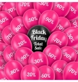 Black Friday Realistic pink vector image