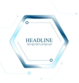 Blue tech hexagon on white background vector image vector image