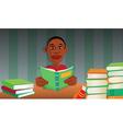 boy reading books vector image vector image