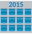 Calendar for 2015 in the form of a glossy vector image