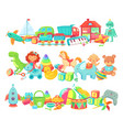 cartoon toys dividers set kids game vector image