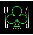 Casino restaurant logo vector image vector image