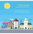 City Street Urban Landscape vector image vector image