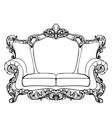classic imperial baroque sofa with luxurious vector image vector image