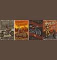 custom motorcycle vintage posters vector image vector image