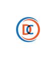 dc company logo template design vector image