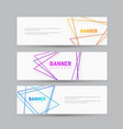 design of white horizontal banners with abstract vector image vector image