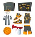 different sport symbols basketballs vector image