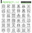eco energy outline mini concept symbols renewable vector image vector image