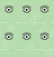eye and arrow pattern in black and white on vector image vector image