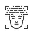 face scanning identification line icon 48x48 vector image
