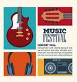 festival music flyer vector image vector image