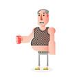 flat man character vector image