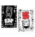 flyer poster rap battle concert hip-hop music vector image vector image
