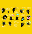 funny monster actions big bundle clip art vector image