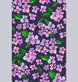 garden pink hydrangea flowers seamless pattern vector image
