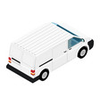 hi-detailed cargo delivery van isometric view vector image vector image