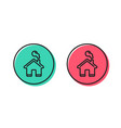 home line icon house sign vector image