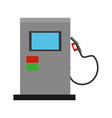 isolated gas station machine vector image