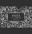 italian pasta design template hand drawn food on vector image vector image