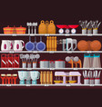 kitchen appliances or kitchen utensil at shop vector image