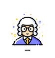 male user avatar of judge icon of cute boy face vector image