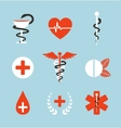 Medical Symbols Emblems and Signs Collection vector image vector image