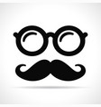 mustache and eye glasses vector image