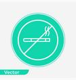 no smoking icon sign symbol vector image