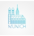 one line minimalist icon of German Towers vector image vector image
