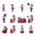 Online Learning Character Set vector image