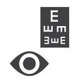 optometry glyph icon medicine and healthcare vector image