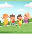 party jummping characters cute happy children vector image vector image