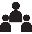 people black icons icon vector image vector image