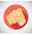 Pointing Finger Potential Client Politician vector image