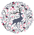 postcard for the new year christmas tree vector image vector image