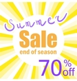 poster for last summer sale vector image vector image